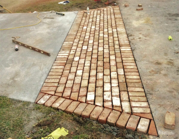 Residential Driveway with Brick Apron