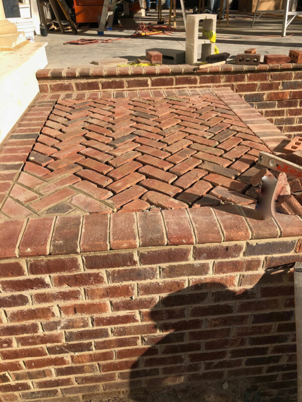 Residential Brick Steps and Landing