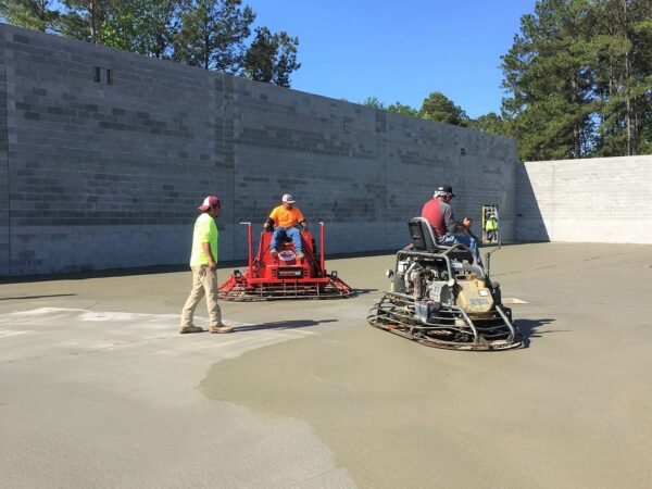 Dollar Tree Retail Store Concrete Slab Finishing & Block Walls