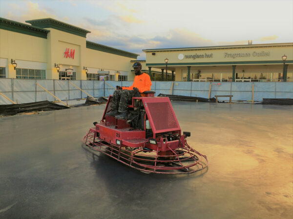 Tanger Outlets Concrete Slab Finishing