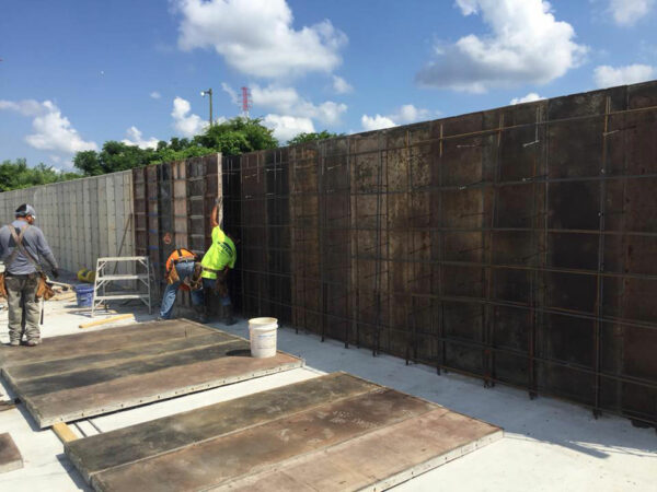 Concrete Plant Retaining Walls