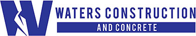 Waters Construction and Concrete Logo